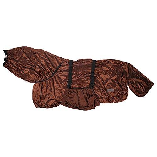 QHP eczeemdeken voor frisies + grote paarden hals grote buikslap bruin, 165 cm