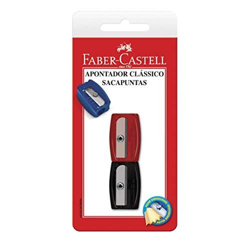 Apontador Simples Clássico, Faber-Castell, SM/060100ZF, Cores Sortidas
