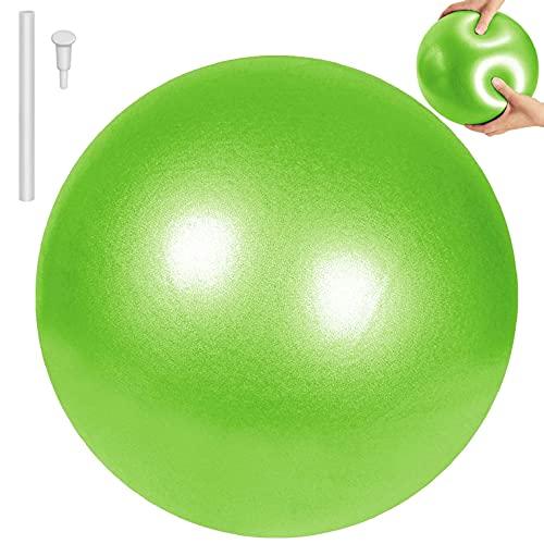 CMTOP Pelota de Pilates de Yoga Pelotas de Ejercicio Anti-Burst Ballon Fitness Softball Pilates Suave Antideslizante Bola de Yoga Pilates para Yoga Equilibrio Entrenamiento 25cm(Verde,25cm)