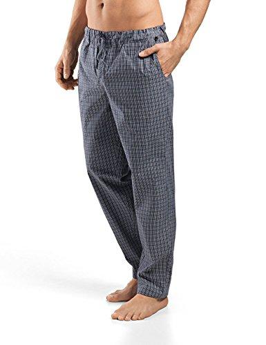 Hanro Herren Night & Day Hose lang Schlafanzughose, Mehrfarbig (Grey Check 1045), 48/50 (Herstellergröße: M)