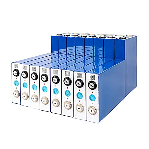 QMRePow Batería Lifepo4 de 3,2 V 90 Ah for Sistema Solar/Autocaravana, Barco/Carrito de Golf eléctrico/Bicicleta eléctrica/batería de Coche DIY batería de fosfato de Hierro y Litio (Color : 16PCS)