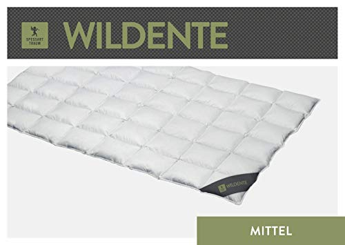 Spessarttraum Bettdecke Daunendecke Wildente 200 x 200 cm Medium