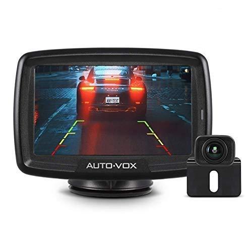 "AUTO-VOX Digital Kabellos Rückfahrkamera CS2, Drahtlose Rückfahrkamera mit 4,3\"" LCD Monitor, Funk Rückfahrkamera mit IP68 Wasserdicht, Nachtsicht, Interne Antenne, Einfache Installation"