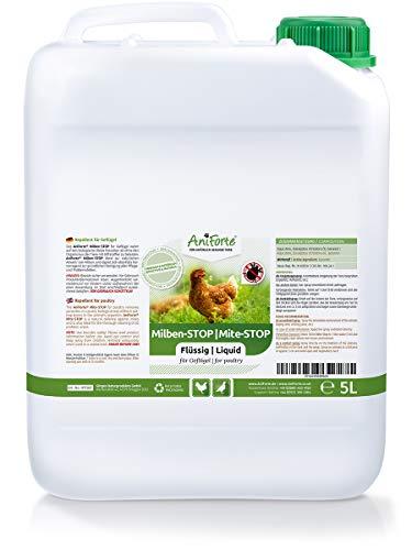 AniForte Milben-Stop Flüssig 5 Liter - Naturprodukt für Geflügel gegen Milben und Parasiten, Ideal zum Nachfüllen Milben Stop Spray