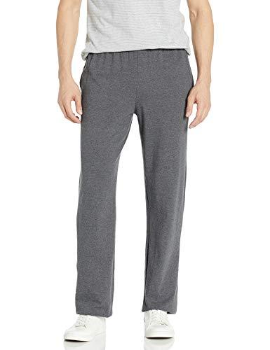 Hanes Men s Jersey Pant, Charcoal Heather, Medium