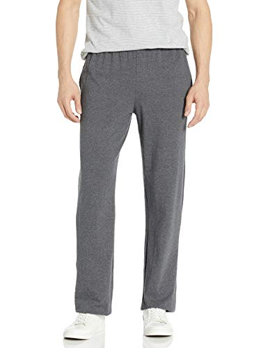 Hanes Men's Jersey Pant, Charcoal Heather, Medium