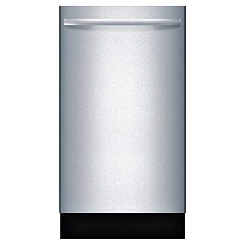 "Bosch SPX68U55UC 18"" 800 Series Dishwasher with 10 Place Settings Fully Integrated Control Panel 44 dBA Quiet Operation Stainless Steel Euro Tub and AquaStop Plus Protection: Stainless"