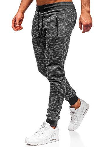 BOLF Herren Sporthose Trainingshose Jogginghose Sweathose Fitnesshose Jogpants Fußballhose Sweatpants Jogger Army Camo Tarnmuster Camouflage Military RED Fireball 8740 Grau M [6F6]