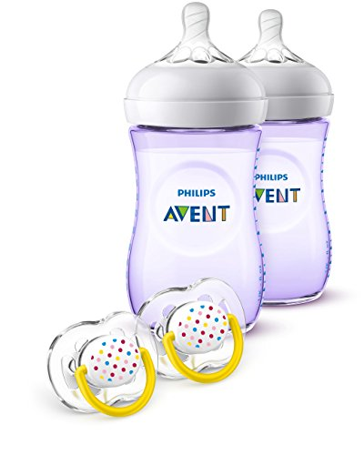 Philips Avent Natural Baby Bottle Purple Gift Set SCD113/23