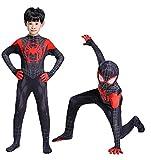Wandado Toddler Kids Spider Verse Miles Morales Bodysuit Black Spider Tights Zentai Costume