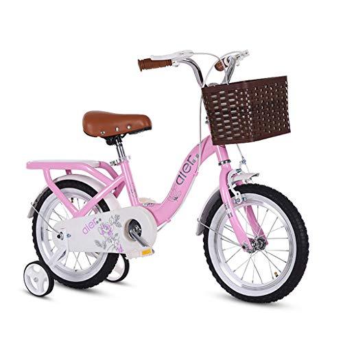 BaoKangShop Bicicletas Bicicleta Infantil 2-10 años Pedal bebé Bicicleta niña niño bebé Cochecito Libre Ciclismo (Color : Pink, Size : 12 Inches)