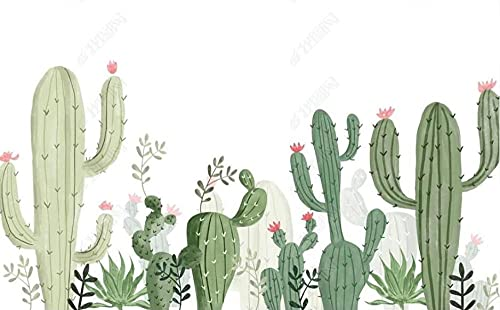 Papel Pintado Pared Papel Cactus Planta Tropical Fotomurales 3d Decoración Papel Tapiz Dormitorio Sala Custom Murales Fondo Pared 400x280cm