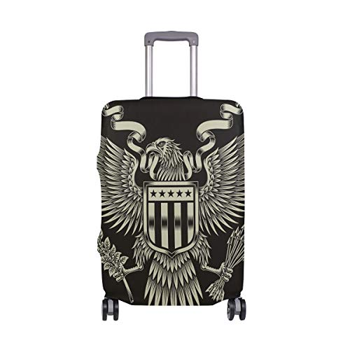Patriotic American Eagle - Funda protectora para maleta de viaje, de elastano, para adultos, mujeres, hombres, adolescentes, se adapta a 18-20 pulgadas