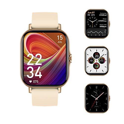 Voigoo Smartwatch Uomo Donna, Impermeabile IP67 1.7   Orologio Fitness Tracker Touch Screen | Chiamate Bluetooth | Monitoraggio della frequenza cardiaca |Activity Tracker per Android iOS