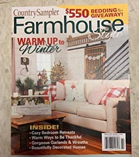 Country Sampler Magazine Farmhouse Style ( Warm up to Winter 2019 )