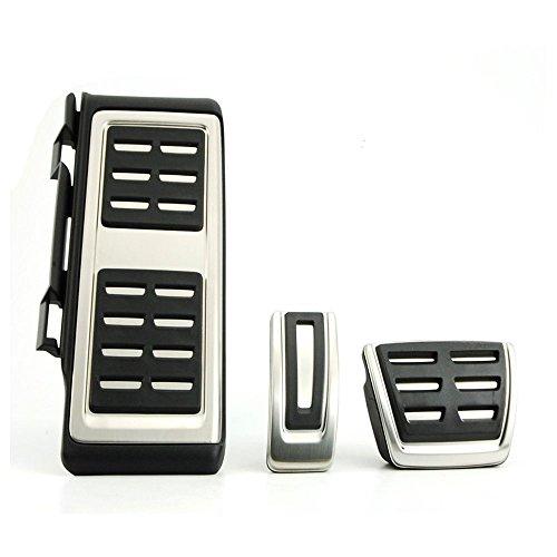 Di&Mi - Set copri pedali, in acciaio INOX, cambio manuale o automatico