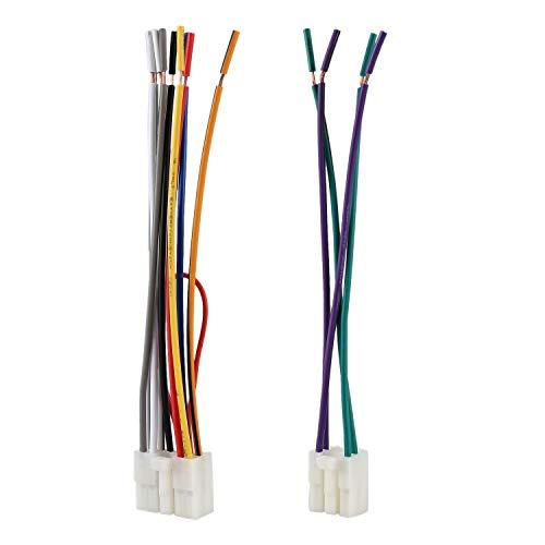 OVBBESS Arnés de cableado estéreo universal del reproductor de CD para // Cable de repuesto de radio de cable de 1 par