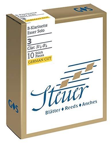 Steuer Blatt BB-Klarinette Solo White Line 3 deutscher Schnitt 10er-Packung