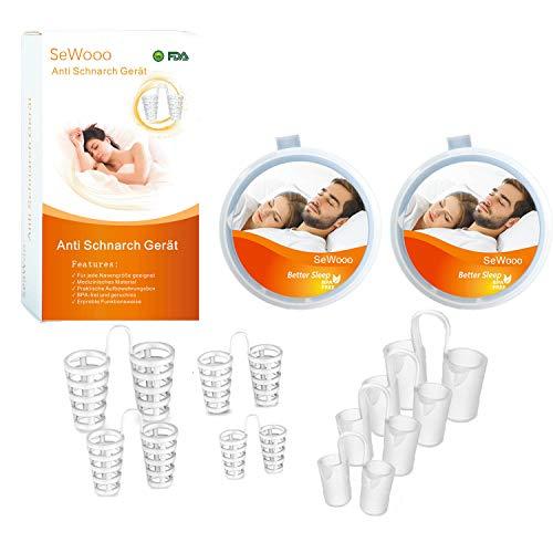 Gegen Schnarchen,Premium Anti Schnarch,Neuartige Nasenklammer Hilft Schnarchstopper,Schlafapnoe&Schweres Atmen,BPA-Frei&Aus Medizinischen Kunststoff (orange)