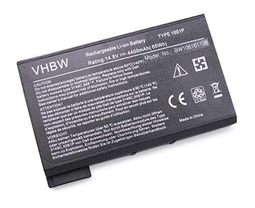 vhbw Li-ION Batterie 4400mAh (14.8V) pour Ordinateur Portable, Notebook Dell Inspiron 2100, 2500, 3700, 3800, 4000, 4100 comme 1691P, 312-0009.