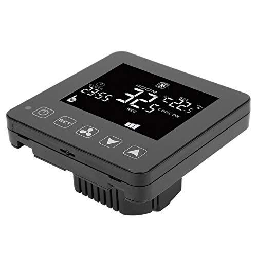Jeanoko Controlador de Temperatura Material ABS ignífugo Termostato Digital de Alta confiabilidad Inteligente para acondicionador de Aire Central con Pantalla LCD