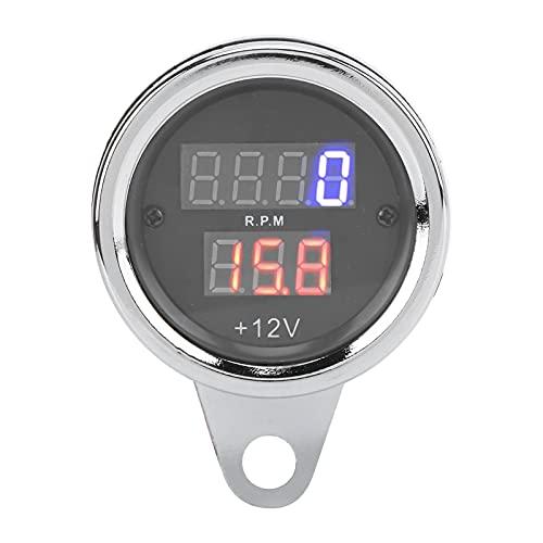 Tacómetro, Odógrafo Del Velocímetro Del Tacómetro 3 En 1 Resistente A Los Rayos UV De La Motocicleta Del Hierro De 12V Con La Exhibición Del LCD