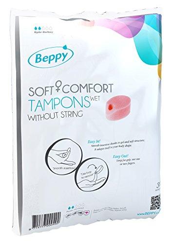 Beppy Weich + Komfort Tampons, feucht, ohne Fäden, 30 Stück