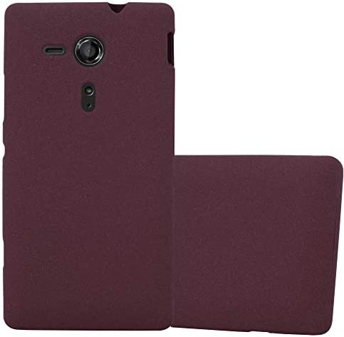Cadorabo Case Compatible with Sony Xperia SP in Frost Bordeaux Purple Shockproof and Scratch product image