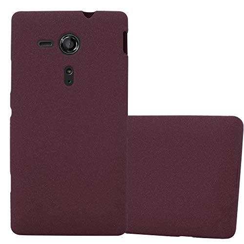 Cadorabo Funda para Sony Xperia SP en Frost Lila Burdeos - Cubierta Proteccíon de Silicona TPU Delgada e Flexible con Antichoque - Gel Case Cover Carcasa Ligera