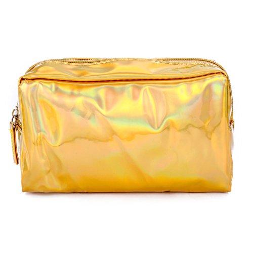 Siwetg Mode holografische pennenmapje cosmetische make-up tas opslag ritssluiting portemonnee tas