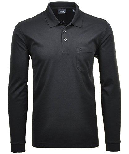 Ragman Herren-Poloshirt, Schwarz, XL