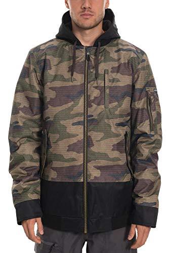 686 Men's Bomber Insulated Jacket - Waterproof Ski/Snowboard Winter Coat, Dark Camo Colorblock, Medium