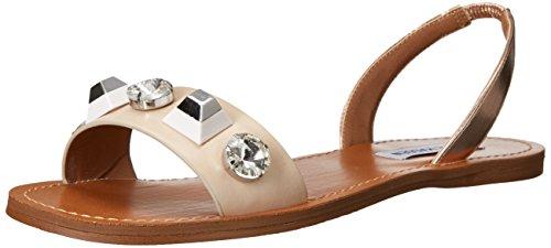 Steve Madden Women's ameline Flat Sandal, Nude Multi, 9 M US