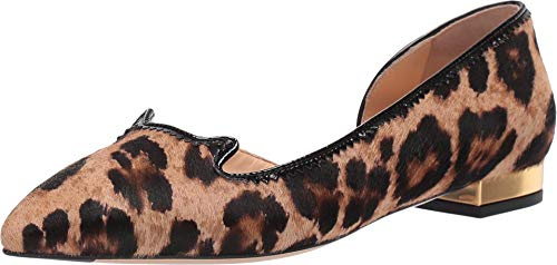 charlotte olympia Feline D'Orsay Leopard/Black Printed Pony+Patent 38 (US Women's 8)