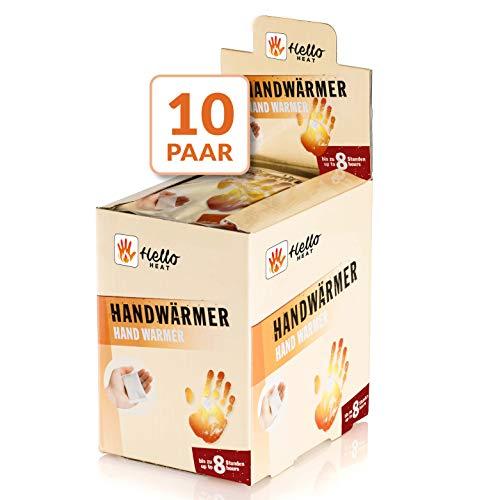 HELLO HEAT (WARMPACK) 10 Paar Handwärmer I Wärmepads für 8 Stunden Wärme I Sofort aktivierbare Taschenwärmer I Zuverlässiges, warmes Heatpad – ideal für Jackentasche, Hosentasche & als Handschuhwärmer