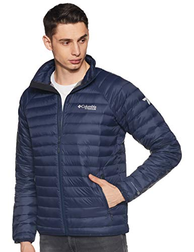 Columbia Alpha Trail Down Mens Jacket - Large/Collegiate Navy