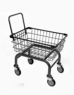 Cart&Supply 1.8 bu Household & Commercial Charcoal Grey Cart with U- Handle (Black)
