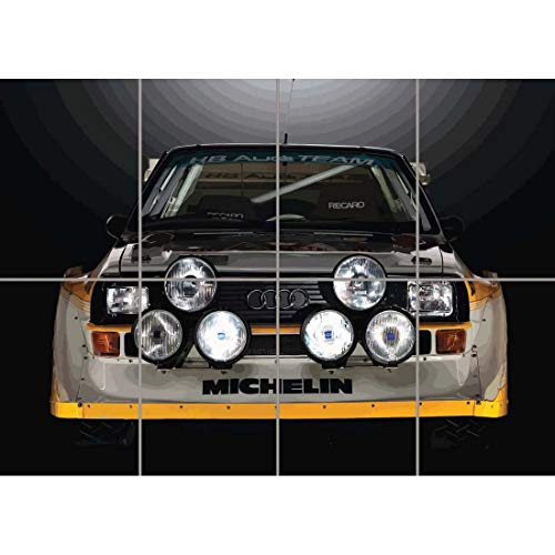 Doppelganger33 LTD Audi Sport Quattro S1 Rally Car Wand Kunst Multi Panel Poster drucken 47x33 Zoll