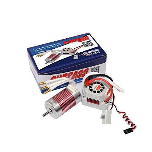 ACHICOO SUR-Pass Hobby Platinum Set 3660 3300KV / 3800kv Brushless Motor mit 60A ESC Wasserdicht für 1/10 RC Car Truck KV3800+60A