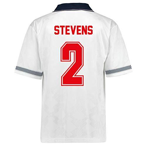"""Unbekannt Englische Nationalmannschaft - Herren Trikot WM 1990 - Heim- & Auswärtstrikot - Weiß - Aufschrift """"Stevens 2"""" - 3XL"""