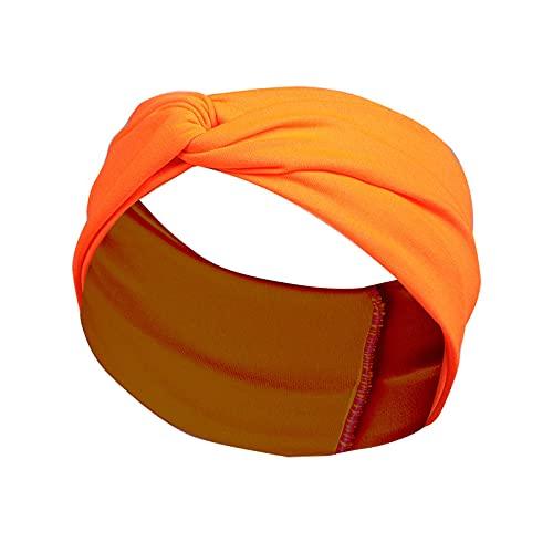 CAIER Diadema Con Forma De Cruz De Color Sólido De Estilo Europeo Y Americano Accesorios Para El Cabello Con Diadema Antitranspirante Para Mujer 4 # naranja