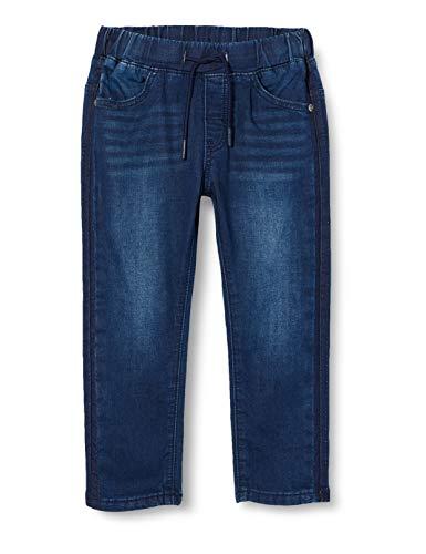 Brums Baby-Jungen Pantalone Jog Denim Jeans, Grau (Stone Wash 01 148), 80 (Herstellergröße: 12M)