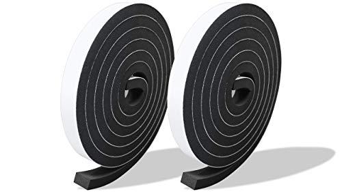 プランプ オリジナル 隙間テープ スキマッチ 黒 ブラック 厚 9 mm × 幅 15 mm × 長 2m 2本入 日本製 ゴムスポンジ 防水 防音 すきま 窓 玄関 引き戸 隙間