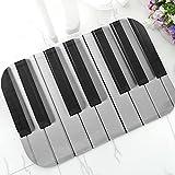 WAXB Impresión Alfombrillas Teclado Piano, Estera Puerta...