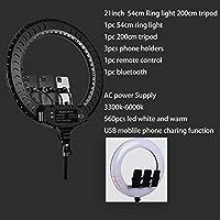 54cm 200cm Tripod 26cm 30cm 45cm 53cm Selfie Ring Light With Light Stand Phone Holder Remote Control Eu Adaptor Video Light Led For Makeup Youtube