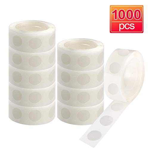 Glue Point Clear Balloon Glue Removable Adhesive Dots Double Sided Dots of Glue Tape for Balloons Party or Wedding Decoration 1000PCS