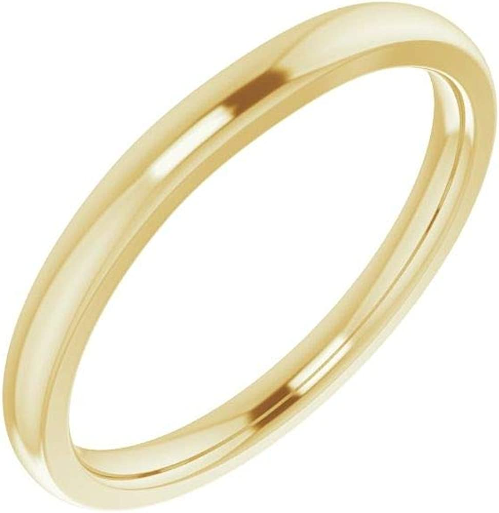 Solid Popular products 18k Yellow Gold Matching Curved Product for Band Wedding Notched 4