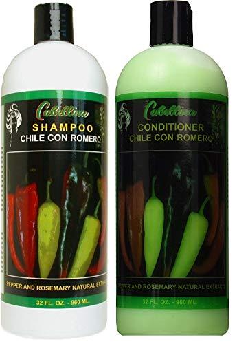 Cabellina Shampoo & Conditioner NATURAL CHILE Romero Pepper ROSEMARY CHILI 32 Oz Each