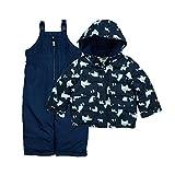 Carter's Boys' Heavyweight 2-Piece Skisuit Snowsuit, Navy/Polar Bears, 5/6