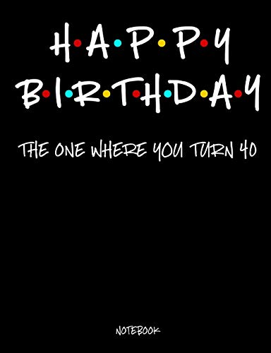 Happy Birthday: The One Which You Turn 40 Notebook: 40th Birthday Gift - A Small Lined Writing Tablet